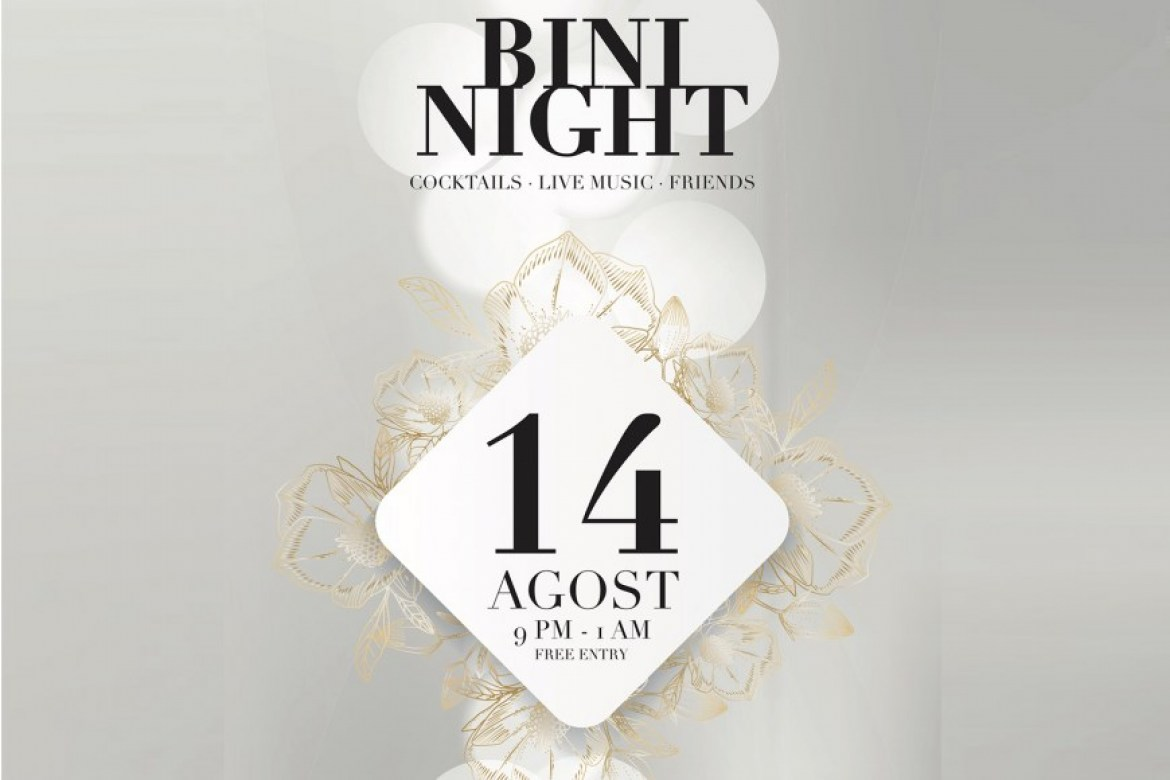 Bini Night, a party with cocktails, live music and friends in Binissaida